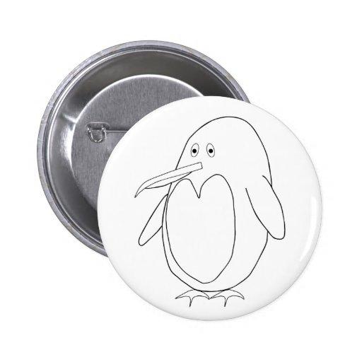 Botón del esquema del pingüino pin