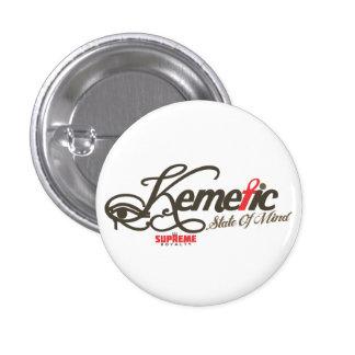 Botón del estado de ánimo de Kemetic (rojo/Brown) Pin Redondo De 1 Pulgada