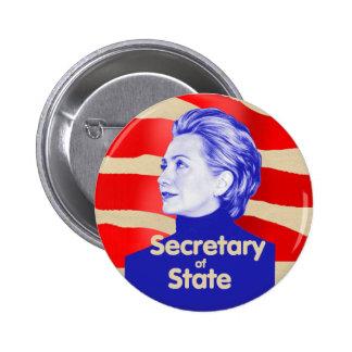 Botón del estado de Hillary Pin Redondo De 2 Pulgadas