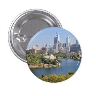 Botón del estándar del horizonte de Philadelphia Pin Redondo De 1 Pulgada