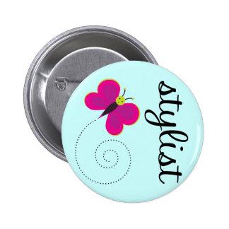 Botón del estilista de la belleza pins