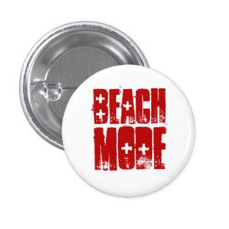 Botón del estilo de la playa del modo de la playa pin redondo de 1 pulgada