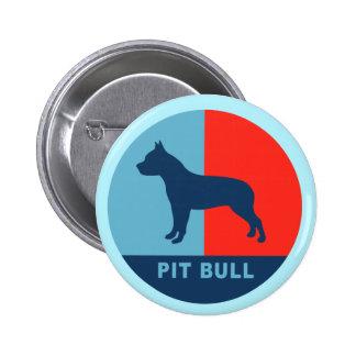 Botón del estilo de PitBull los E.E.U.U. Pins