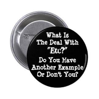 "Botón del ""etc"" pin redondo de 2 pulgadas"
