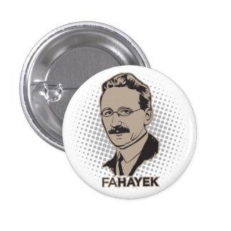 Botón del FA Hayek Pin Redondo De 1 Pulgada