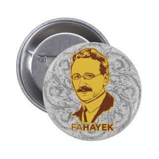 Botón del FA Hayek Pin Redondo De 2 Pulgadas