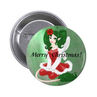 Botón del Faerie del navidad Pins