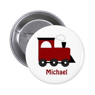 Botón del favor del cumpleaños del tren de los niñ pin redondo de 2 pulgadas