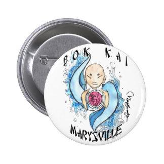 Botón del festival de Bok Kai Pin Redondo De 2 Pulgadas