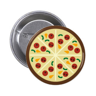 Botón del fiesta de la pizza del KRW