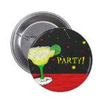 Botón del fiesta de Margarita Pin Redondo De 2 Pulgadas