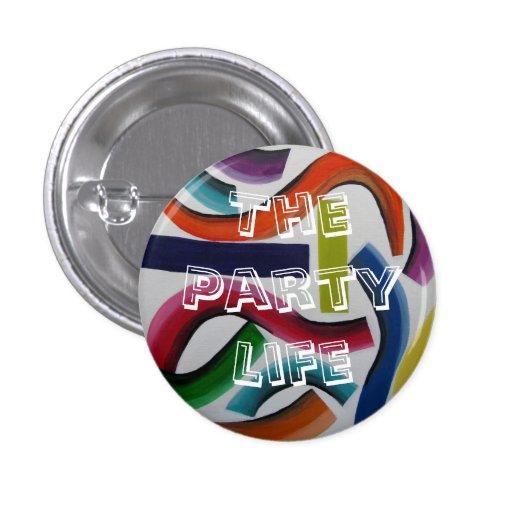 Botón del fiesta del confeti pins