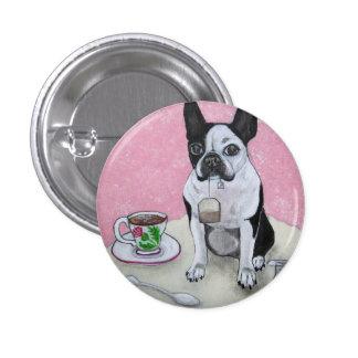 Botón del fiesta del tiempo del té del perro de Bo Pins