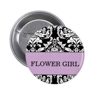 Botón del florista pin redondo de 2 pulgadas