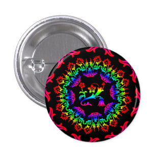 botón del flower power pin redondo de 1 pulgada