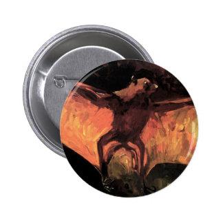 Botón del Fox de vuelo de Van Gogh Pins