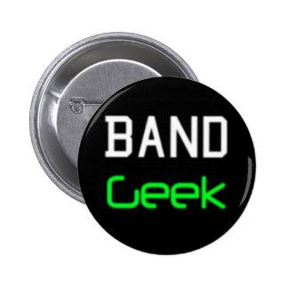 Botón del friki de la banda pin redondo de 2 pulgadas