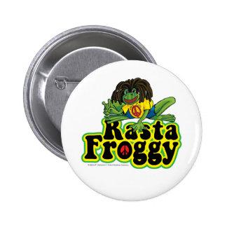 Botón del Froggy de Rasta Pins