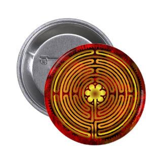 Botón del fuego del laberinto de Chartres Pin