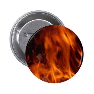 Botón del fuego pin redondo de 2 pulgadas