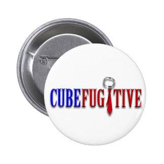 Botón del fugitivo del cubo pin redondo de 2 pulgadas