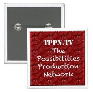 Botón del funcionario de TPPN.TV Pin Cuadrado