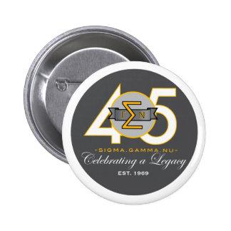Botón del funcionario del aniversario de NU 45.o Pin Redondo De 2 Pulgadas