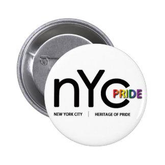 Botón del funcionario del orgullo de NYC Pin Redondo De 2 Pulgadas