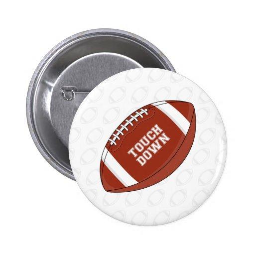 Botón del fútbol americano pin