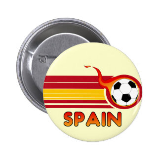 Botón del fútbol de España Pins