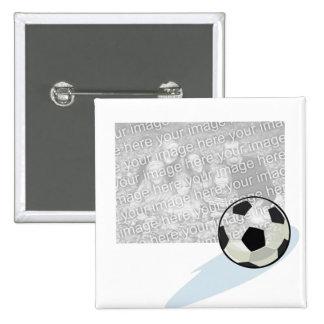 Botón del fútbol de la foto pin