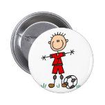 Botón del fútbol del deporte pin