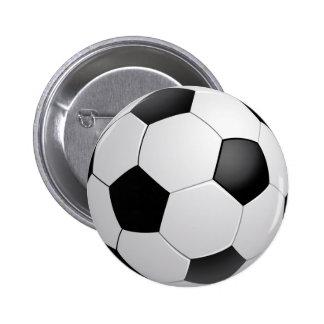 Botón del fútbol del fútbol pin redondo de 2 pulgadas