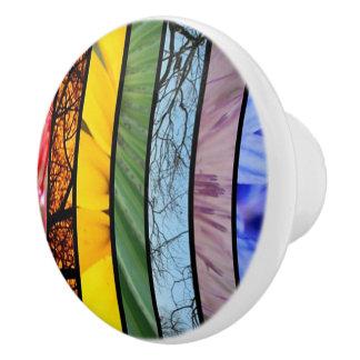 Botón del gabinete del símbolo del orgullo del pomo de cerámica