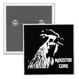Botón del gallo del metal de la muerte pin cuadrado