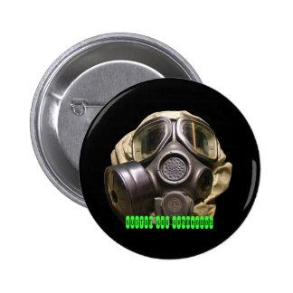 botón del gasmask pin redondo de 2 pulgadas