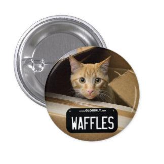Botón del gatito de las galletas pin redondo de 1 pulgada