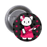 Botón del gatito de Rockin Pin