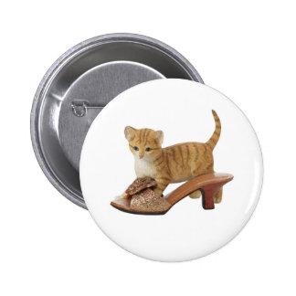 Botón del gatito del gato del gatito pin redondo de 2 pulgadas
