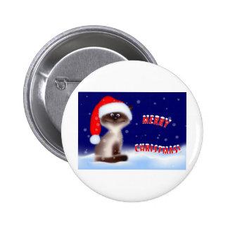 Botón del gatito del navidad pins