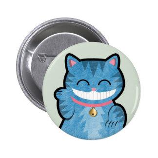 Botón del gato de Cheshire Pin Redondo De 2 Pulgadas