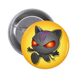 Botón del gato de Ninja Pin Redondo De 2 Pulgadas