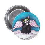 Botón del gato del ángel de guarda pins
