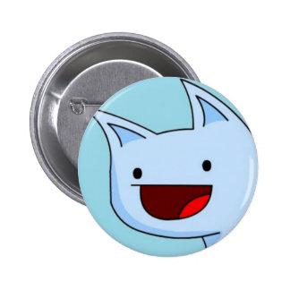 Botón del gato del duende pin redondo de 2 pulgadas