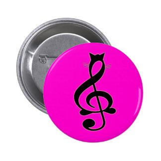 Botón del gato del jazz pin redondo de 2 pulgadas