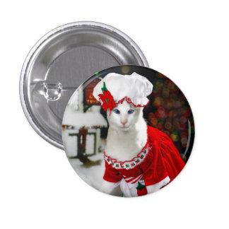 Botón del gato del navidad pins