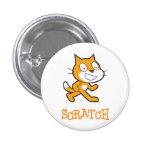 Botón del gato del rasguño pins