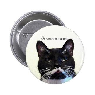 Botón del gato del sarcasmo pin