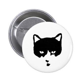 Botón del gato del smoking pin redondo de 2 pulgadas