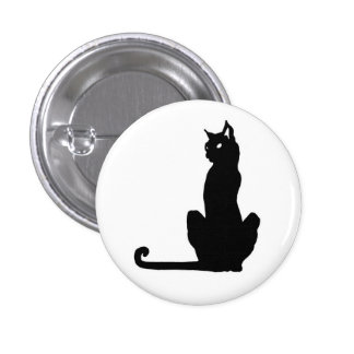 Botón del gato negro pins